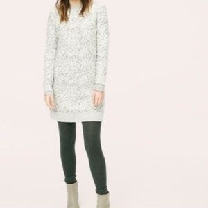Lou & Grey Textured Animal Print Sweater Dress XS